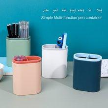 Soporte nórdico multifunción para bolígrafos de escritorio, Caja de almacenaje para maquillaje, organizador de escritorio, estuche de papelería para la escuela y la Oficina