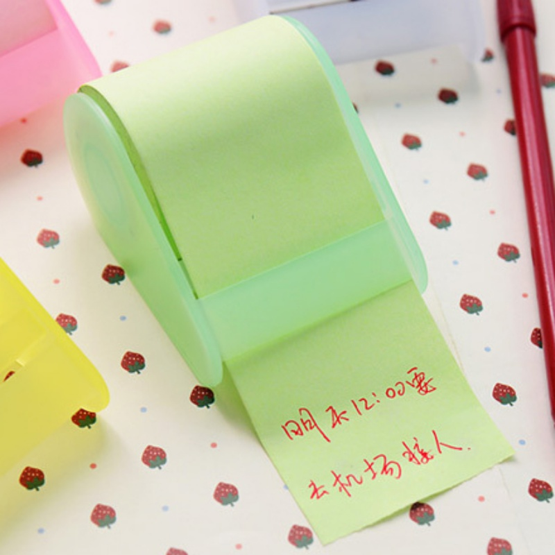 Mini Roll Of Paper Sticky Note Creative Scratch Pad Note Message Office Stationery Lovely Notepad
