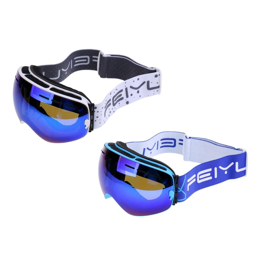 2 pièces Anti-buée Protection UV double lentille hiver extérieur Snowboard Ski lunettes - 2