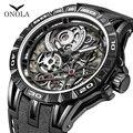 Бренд ONOLA, крутые кварцевые часы, мужские Модные повседневные спортивные часы с уникальным циферблатом, мужские часы с японским механизмом, ...