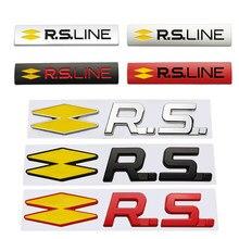 Rs linha etiqueta do carro de metal emblema decalque distintivo para renault clio 4 kadjar scenic 2 megane 3 laguna captur fluência espace frendzy