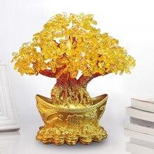 Yuanbao дерево золотой слиток дерево орнамент денежное дерево Орнамент Дерево Счастья орнамент гостиная свадебные ремесла Кристальный Рабочий стол отель