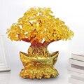 Yuanbao дерево золотой слиток дерево орнамент деньги дерево орнамент Фортуна дерево орнамент гостиная свадебные ремесла кристалл Настольный ...