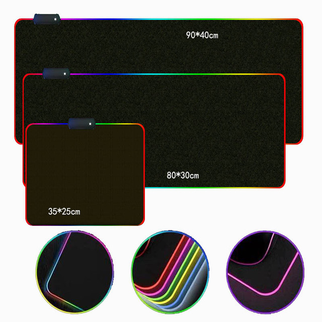 Custom DIY mouse pad RGB LED large gaming mousepad laptop desk mat rubber slip 5