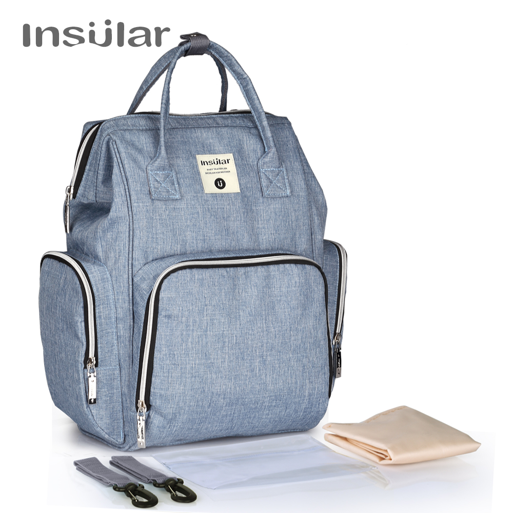 Insular Mummy Maternity Baby Nappy Stroller Bag Large Capacity Diaper Travel Backpack Nursing Bag Baby Care Women's Fashion Bag