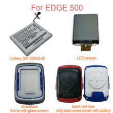 For GARMIN Edge 500 Front Cover With Glass Edge500 Battery 361-00043-00 Replacement LCD Display Screen Back Cover Repair Parts