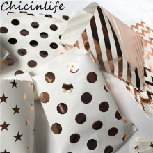 Chicinlife 10Pcs Wave Point Dot Stripe Paper Bags Birthday Party Candy Treat Coo