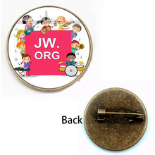 New Fashion JW.Org Pattern Brooch Bright Color Jehovahs Witness Glass Badge Men and Women Party Gift Friends Holiday Souvenir