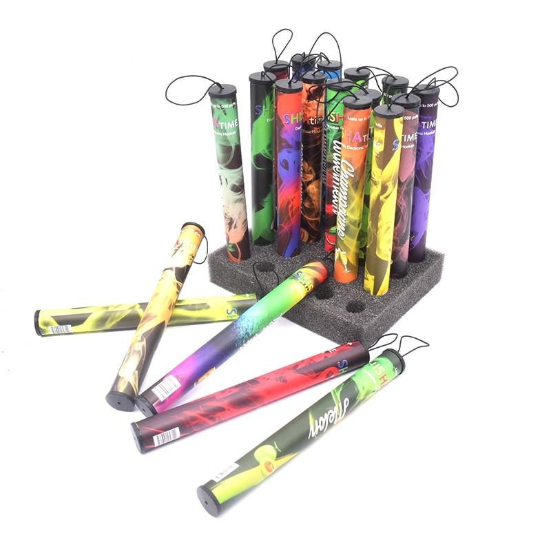 5 Pcs/lot Shisha Time Vape Pen Kit Portable Mixed Flavor Pen 500puffs Hookah Shisha E-cigarette Hookah Vaporizer Pen Kit