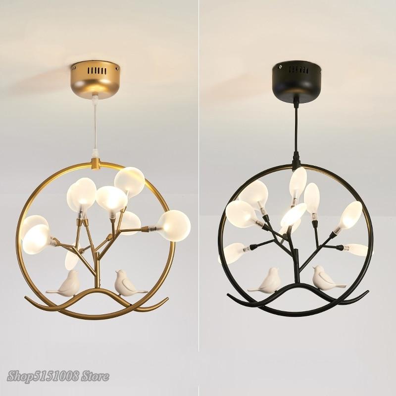 Modern Lights Loft Bird LED Chandeliers Pendant Lamps Bedroom Living Room Study Restaurant Hanging Lighting Fixtures Decoration