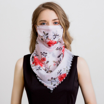 Hot sell mouth mask Lightweight Face Mask scarf Sun Protection Mask Outdoor Riding Masks Protective silk Scarf Handkerchief