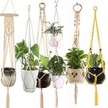 Hot sales handmade macrame plant pot tray plant  pot hanger p macrame plant hanger plant hanging for garden plant tray