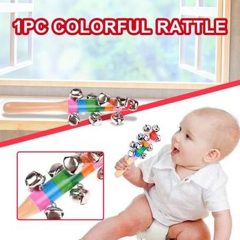 Drewniana grzechotka dla dzieci zabawki dla dzieci zabawka dla dziecka grzechotki dla dzieci kolorowe drewniane dzwonki dzwonki zabawki dla niemowląt noworodki zabawka dla dziecka s tanie i dobre opinie KABI Drewna CN (pochodzenie) Unisex Colorful Ringing bell 3 lat cartoon NONE Oddziela Musical Rattle Musical Toy Toddler Children Kids Educational Toy