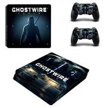 GhostWire Tokyo Vinyl Decal Protective PS4 Slim Sticker for Sony Playstation 4 Console & Controller PS4 Slim Skin Sticker