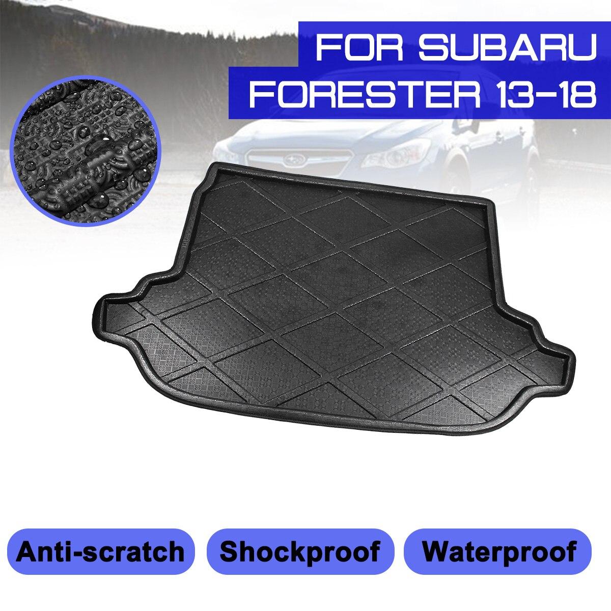 Автомобильный коврик для пола, коврик для заднего багажника, анти грязевая Крышка для Subaru Forester 2013 2014 2015 2016 2017 2018|Напольные коврики|   | АлиЭкспресс