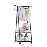 Multi-função cabide removível quarto pendurado roupas com rodas piso de pé cabide