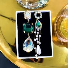korea geometric long tassel bar drop earrings for women minimalism personality ear line dangle oorbellen gift