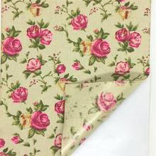 21cm x 29cm Rose Impresso Adesivo de Tecido Etiquetas para Handmade Envoltório Ofício Recados Cartões de Casamento Presente-Caixa Floral Deco