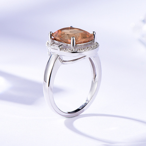 Image 4 - Kuololit Zultanite Gemstone Rings for Women Solid 925 Sterling Silver Color Change Diaspore Sultanite Bride Gifts Fine Jewelry