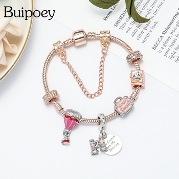 Telescope Charm Bangle For Women Girl Memorial Jewelry 1