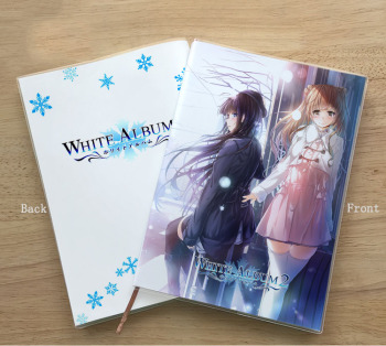 Anime WHITE ALBUM 2 Kitahara Haruki Ogiso Setsuna notebook Student Memorial Gift Diary Birthday gift Notepad image