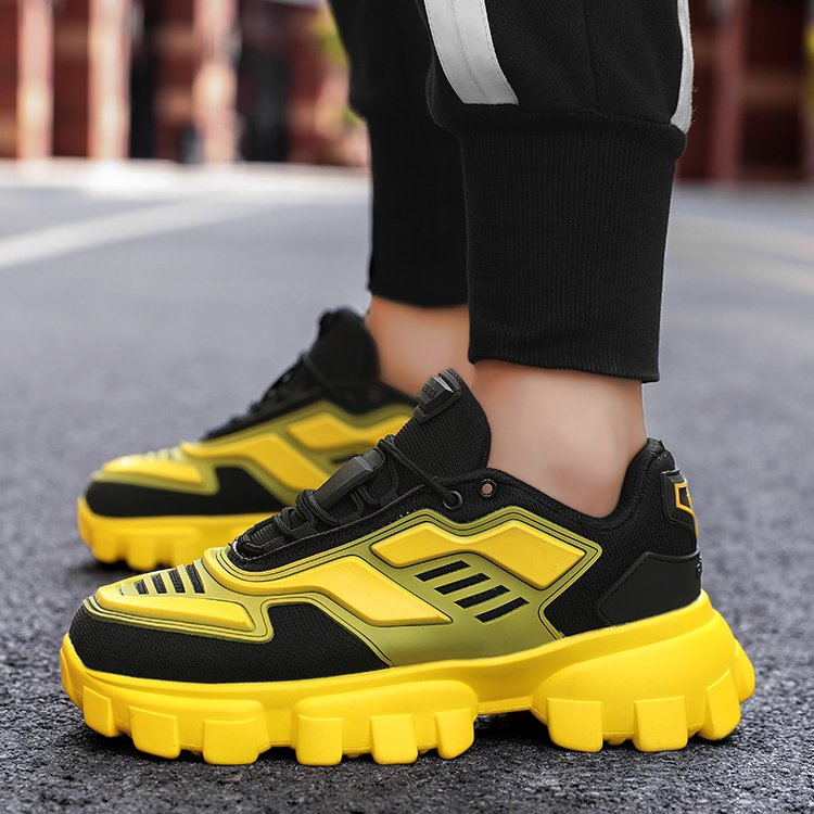 Hip Hop Men Sneakers Colorful Men Shoes Lightweight Kanye Chunky Sneakers Youth Boys Casual Shoes Mesh Male Footwear Fashion