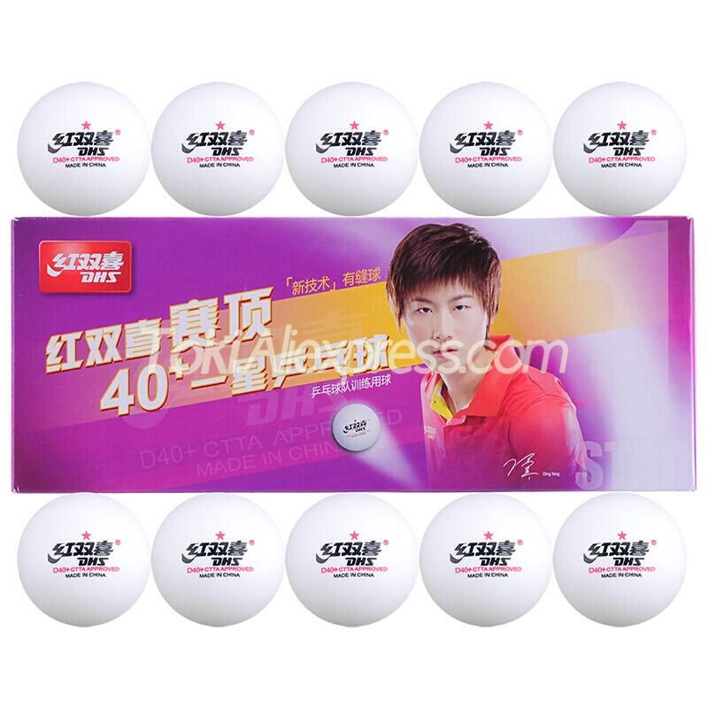 20 Balls DHS Table Tennis Ball DHS D40+ 1-STAR Plastic ABS Original DHS Ping Pong Balls