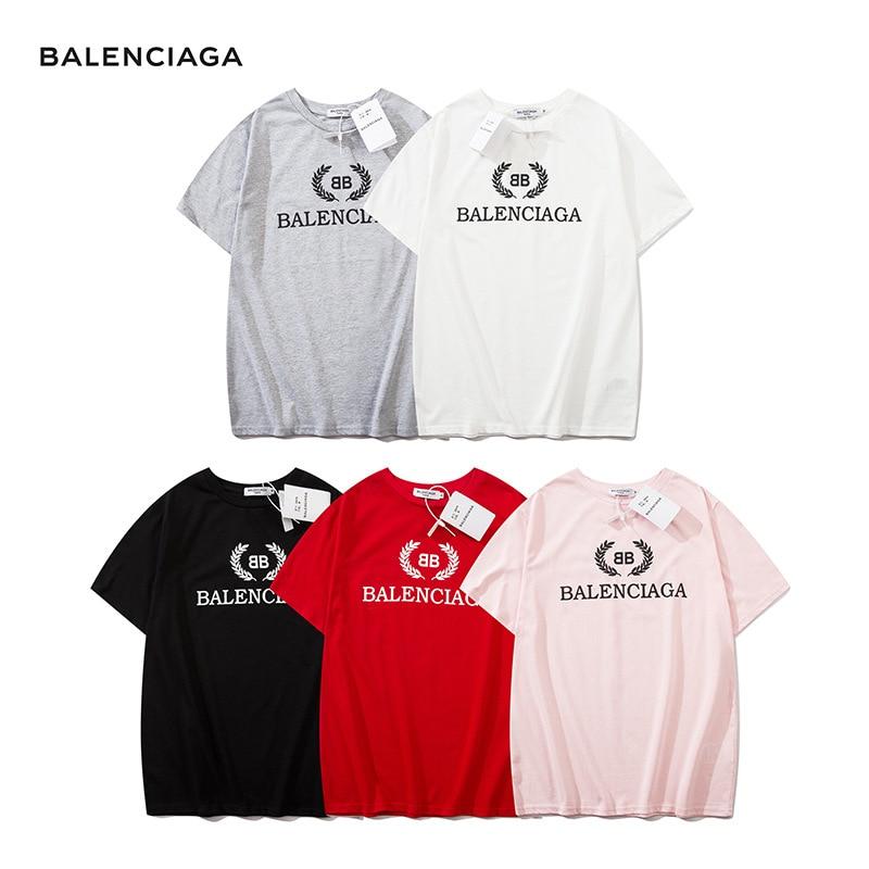 Fashion Brand T-shirt Summer New Tharn Type The Series Men Women T-shirt Trend Classic Printing BL Letter Short-sleeved T-shirt