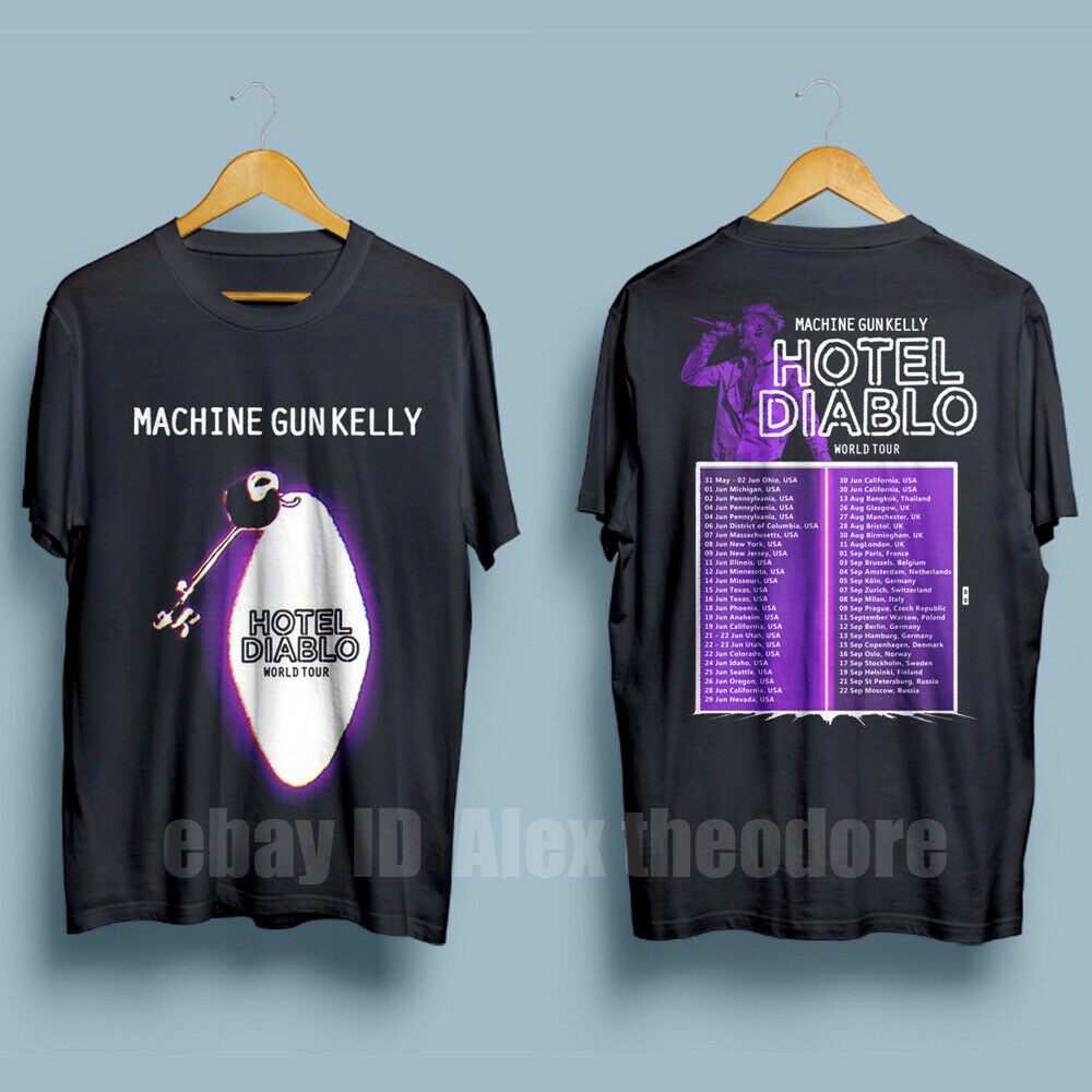 Machine Gun Kelly Tour 2019 Hotel Diablo Men'S Black T-Shirt 2019 Unisex Tee