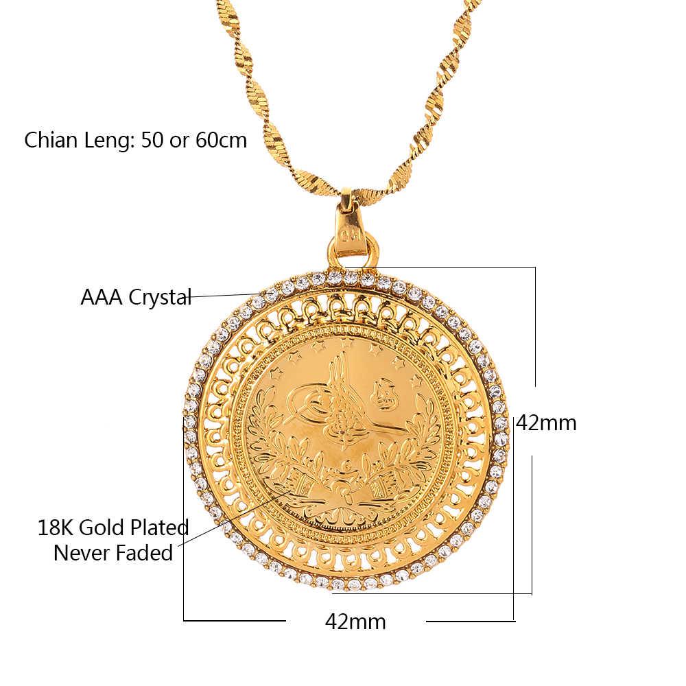Золотые и хрустальные подвески и ожерелья для женщин, на Ближнем Востоке, ислам, мусульмане, новые ювелирные изделия, арабские подарки, средние ювелирные изделия в восточном стиле