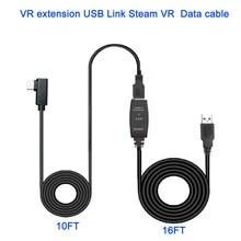 8M/ 26FT VRสายUSB3.0ข้อมูลที่มีเสถียรภาพประเภทสายAถึงC USBชุดหูฟังสำหรับOculus quest Steam VRอุปกรณ์เสริม