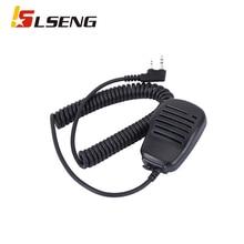 LSENG Walkie Talkie Radio Microphone Compact Shoulder Speaker Mic Compatible with RETEVIS,Baofeng,Kenwood,Linton,WOUXUN,POFUNG