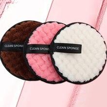 1 шт мягкая волоконная губка для макияжа из микроволокна салфетка