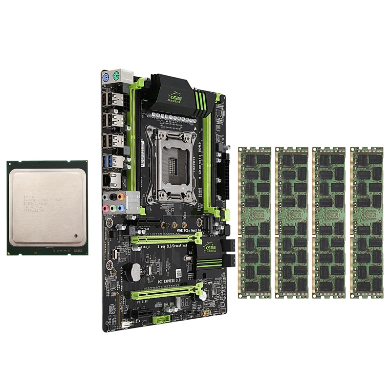 X79 LGA2011 Motherboard Combo Set com E5-2689 CPU 4X8GB 32GB 4-Ch DDR3 RAM 1600Mhz REG slot PCI-E SSD NVME M.2 ECC