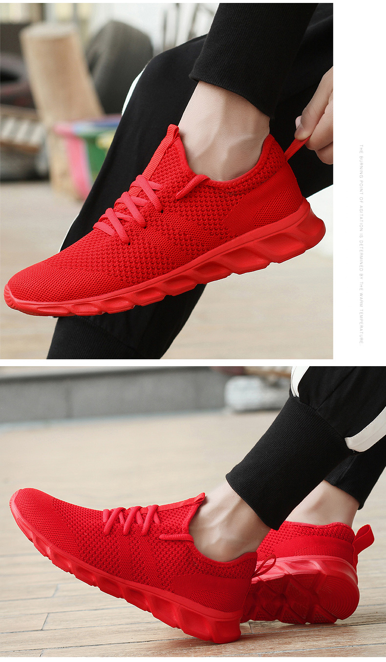 H6a5c97c54c9e4fe99b97c8cea2d68793q Men Light Running Shoes Flyknit Breathable Lace-Up Jogging Shoes for Man Sneakers Anti-Odor Men's Casual Shoes Drop Shipping