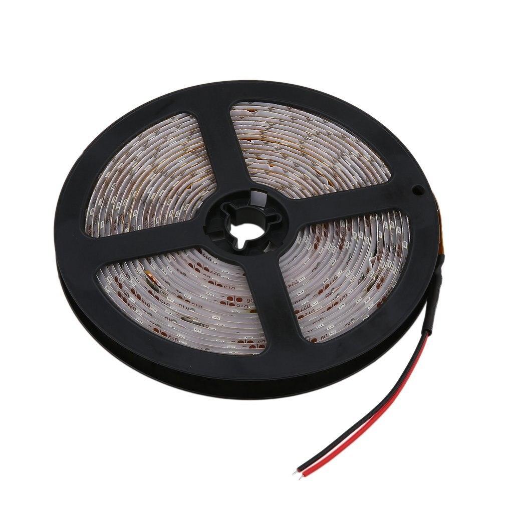 5M/3528/300 LED Waterproof Single LED Strip Lamp 12V Warm Cool White SMD Ribbon Strips For Ceiling Counter Cabinet Light Belt
