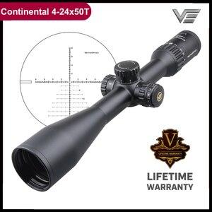 Image 1 - Тактический Оптический прицел Vector Optics Continental 4 24x50 SFP, HD стекло, 1/10 мил, 30 мм трубка, светильник пропускание 90%, подходит для 30 06 7,62