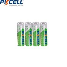 4 adet PKCELL 1.2V 2200mAh AA şarj edilebilir pil AA NiMH 2A ön şarjlı şarj edilebilir piller Ni MH Bateria için kamera
