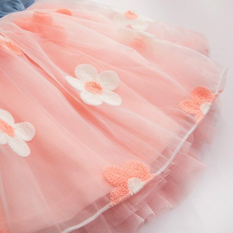 H6a5ce39a589048d7a63bb13f7be4f6b6G Girls Dress 2018 Summer Explosion Solid Color Denim Dress Cartoon Polka Dot Bow Cartoon Bunny Satchel Korean Baby Cute Dress