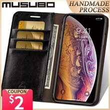 Musubo Leather Case For iPhone 11 Pro Max 8 Plus 7 Luxury Wallet Phone Cases Cover for iphone Xs Max X 6 6s Plus Card Capa Coque