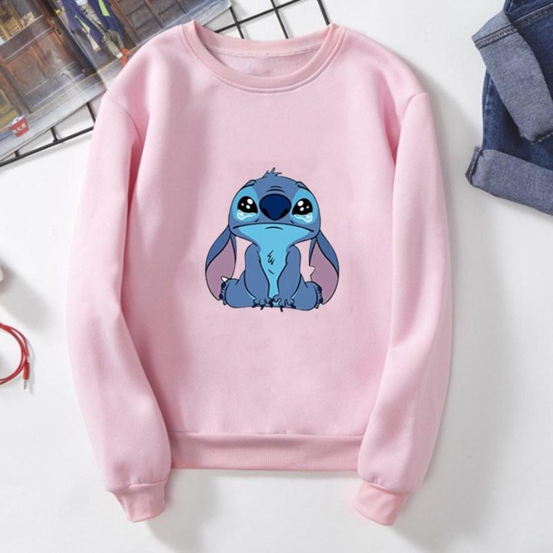 Spring Crewneck Sweatshirt Women Cute  Lilo And Stitch Hoodie Lady Girl Pullover Harajuku Women's Clothing