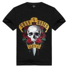 Men's T-shirts 2018 new GUNS N ROSES NIGHTRIAN t shirt men mans tshirt summer cotton black t-shirt punk skull rose design