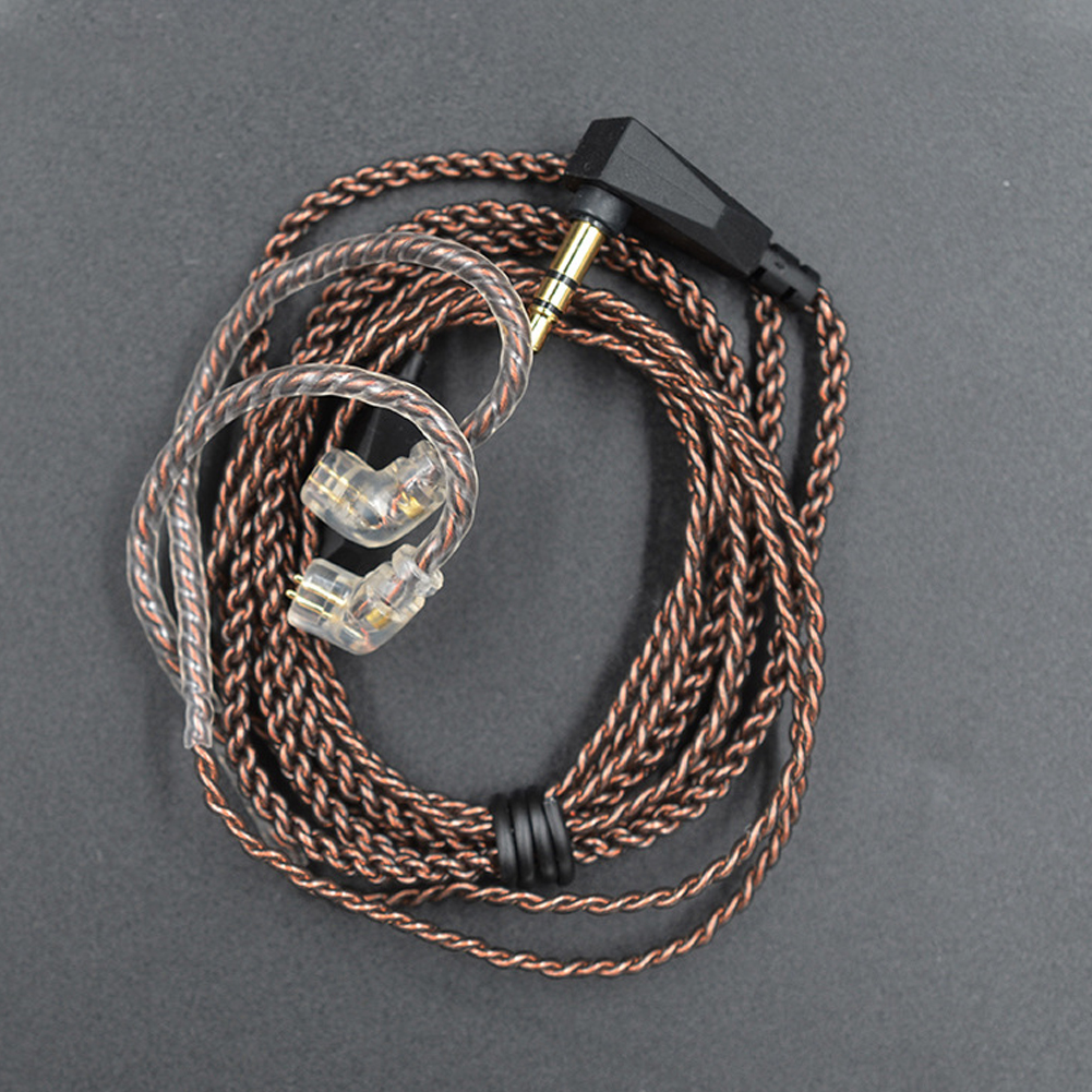 Wire Sound Stable <font><b>0.75mm</b></font> <font><b>2</b></font> <font><b>Pin</b></font> Accessories L Plug Audio Earphones <font><b>Cable</b></font> Dedicated Upgrade Copper Practical Plated For KZ ZS5 6 image