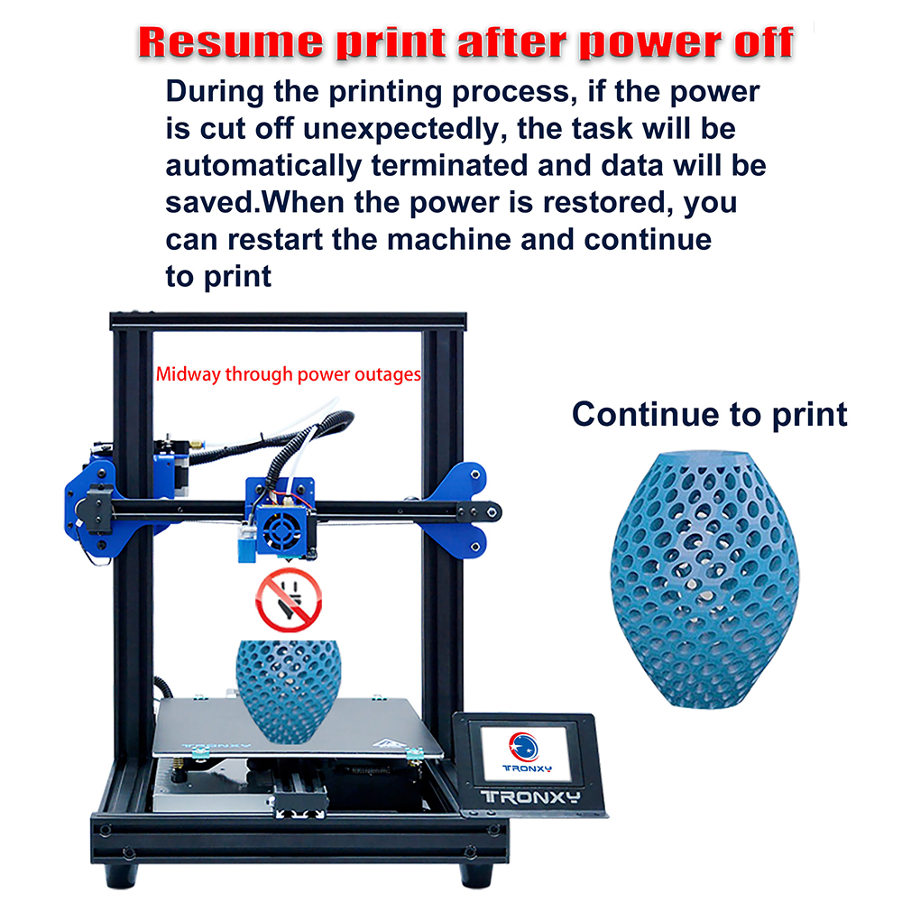 Image 5 - TRONXY XY 2 Pro 3D Printer Kit Fast Assembly 255*255*260mm Build Volume Auto Leveling Resume Print Filament Run Out Detection-in 3D Printers from Computer & Office