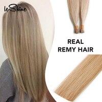 Leshine 50pcs/Pack Remy Hair I Tip Hair Extension Fusion Keratin Hair Human Hair Extensions Indian Silky Straight Hair