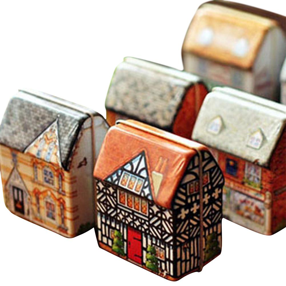 None Metal House Mini Music Box Toys For Girls As A Gift Cute Metal Small House Mini Music Box Creative Gift