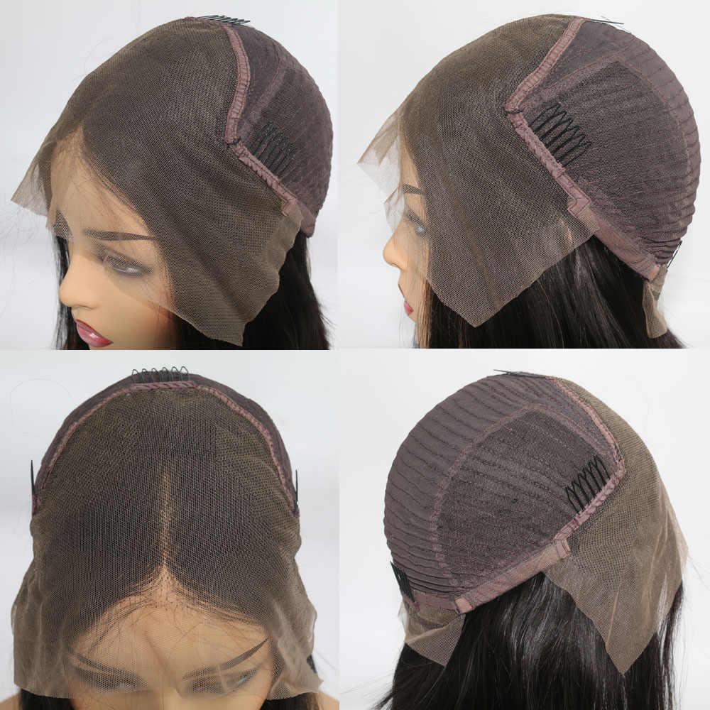 Pelucas de cabello humano de color naranja jengibre, pelucas de cabello humano de onda profunda, pelucas de cabello humano de color virgen predesplumado para mujeres negras completas