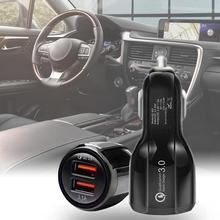QC3.0 Car Charger Dual USB Ports 2.5A Car Charger Adapter for Phones/Tablets and More bc12 3 ports usb car charger black