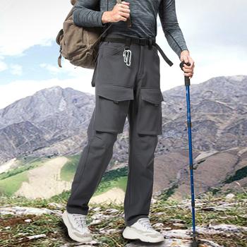 Męskie spodnie sportowe multi-kieszenie spodnie trekkingowe spodnie męskie podróżowanie szybkie suche Cargo spodnie do wędrówek pieszych męskie odzież wędkarska tanie i dobre opinie TIKALIA Wiosna i jesień Spodnie cargo CN (pochodzenie) POLIESTER Solo OUTDOOR Mieszkanie Z KIESZENIAMI REGULAR Pełna długość