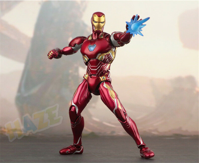 Marvel SHF S.H.Figuarts Marvel Avengers Infinity War 6 Iron Man MK50 PVC Figure Toys Model COllection Iron Man Figure Toy image